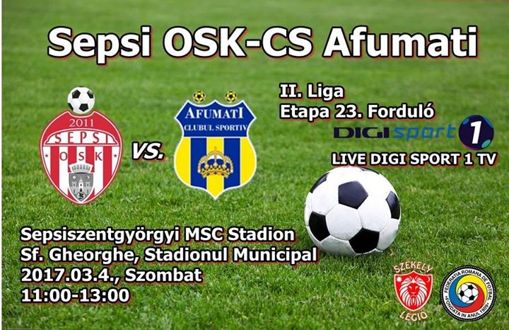 Sepsi OSK-Cs Afumati (Live Digi Sport 1 TV) at Varosi