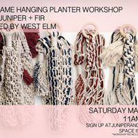 Macrame Workshop with Juniper and Fir