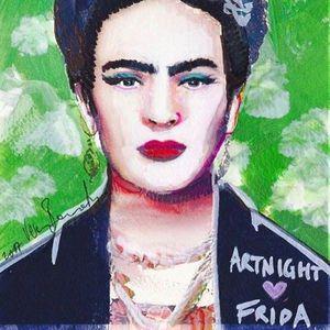 ArtNight Frida Kahlo Vor Grner Wand am 26.04.2019 in Wiesbaden