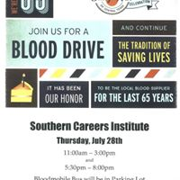 Blood Drive at Southern Careers Institute Austin Campus