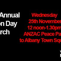 Silent March White Ribbon Day Albany