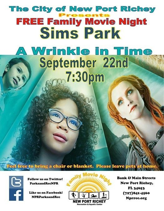 September Free Family Movie Night A Wrinkle in time
