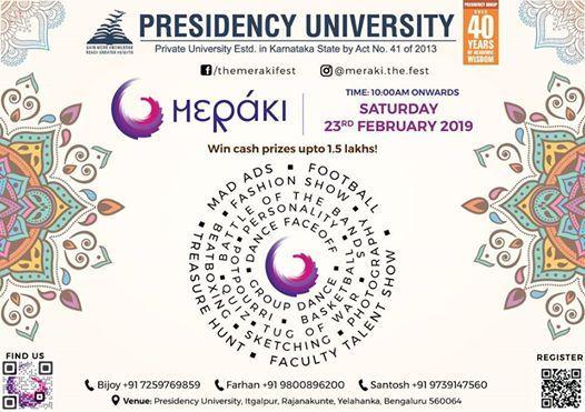 Meraki 2019 - An Inter-Collegiate Cultural Festival