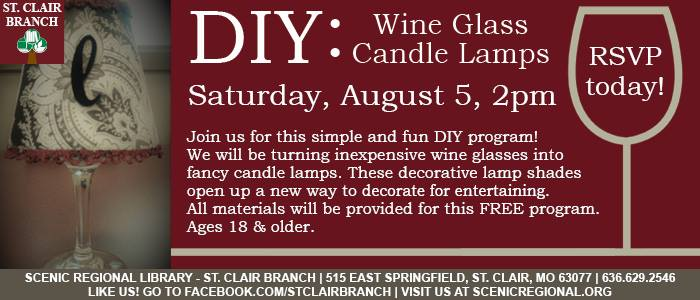 DIY: Wine Glass Candle Lamps at Scenic Regional Library - St
