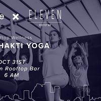 Rooftop Wellness  Cove x Eleven Rooftop Bar  Eka Shakti Yoga