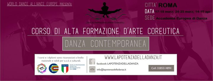 Corso di metodologia alla Danza Contemporanea Roma