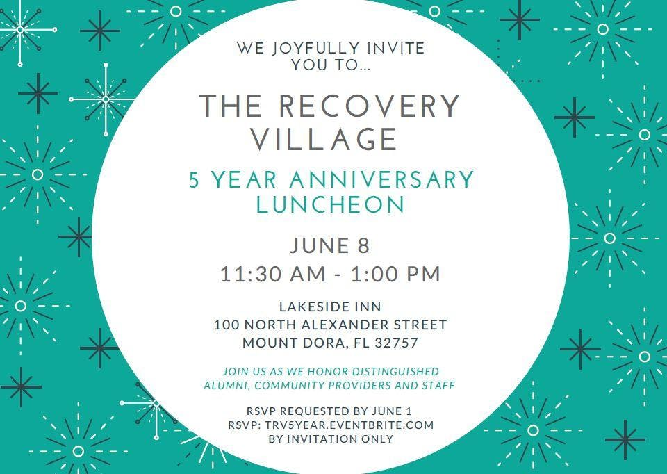 the recovery village 5 year anniversary luncheon invitation only at