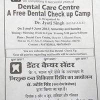 A Free Dental Check up Camp
