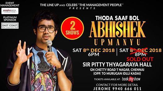 Chennai - Thoda Saaf Bol By Abhishek Upmanyu