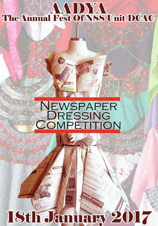 Aadya17- Newspaper Dressing Competition