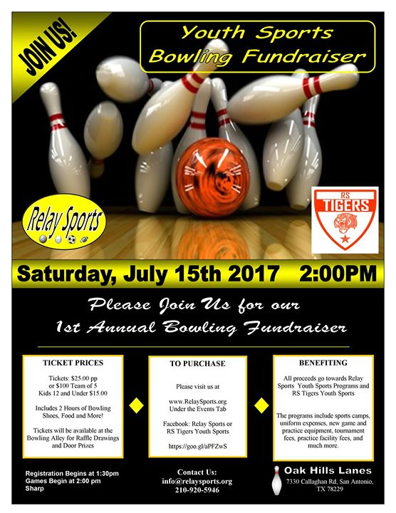 Tigers Bowling Fundraiser At 7330 Callaghan Rd San Antonio Tx