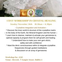 1 Day workshop in Crystal Healing