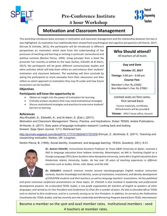 Motivating and Classroom Management