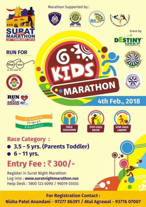 4th Feb 2018 Kids Marathon
