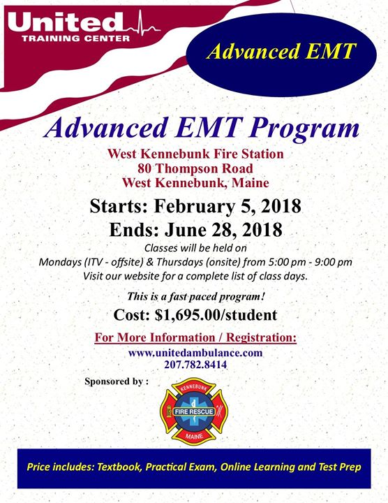 Advanced Emergency Medical Technician Aemt At United Training