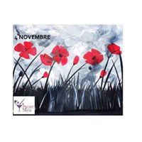 PAINT NITE &quotFlowers of Rememberance&quot