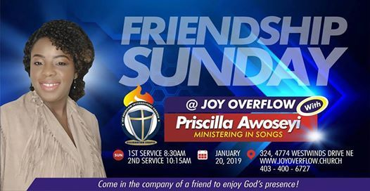 Friendship Sunday at Joy Overflow with Priscilla Awoseyi