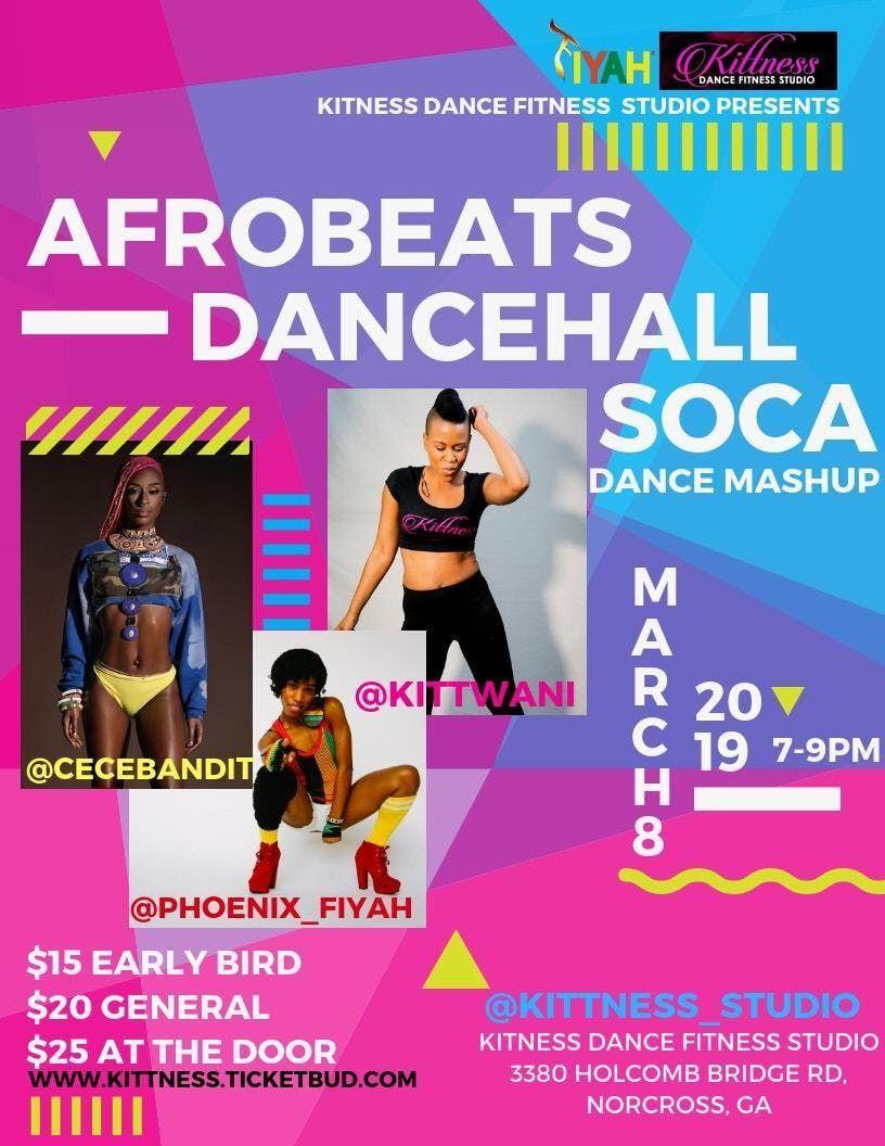 Afro-Beat/ Dancehall/ Soca Dance Mash Up at kITTNESS DANCE FITNESS