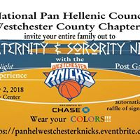 Fraternity &amp Sorority Night w the Westchester Knicks