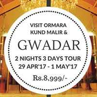 2 Nights 3 Days Gwadar Tour 29 Apr -1 Apr17