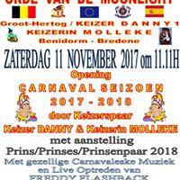 OPENING CARNAVALSEIZOEN 2017-2018 BENIDORM