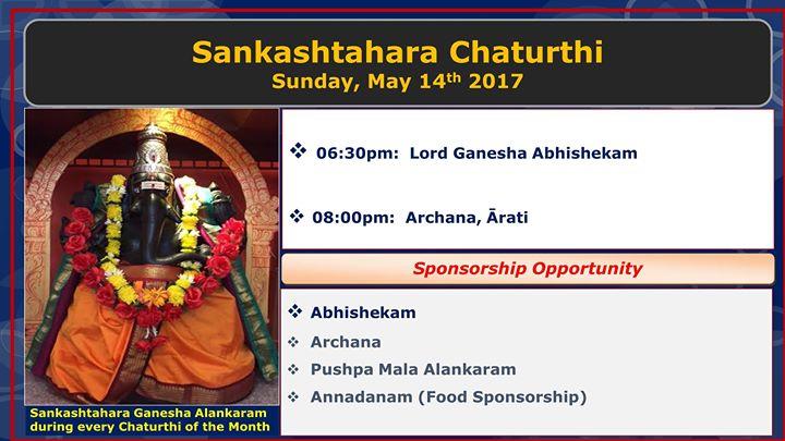 Sankashtahara Chaturthi at Hindu Temple and Cultural Center