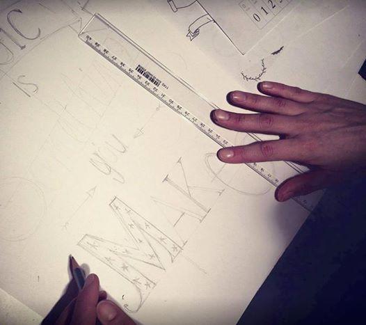 Workshop hand lettering