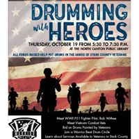 Drumming with Heroes an event with Warrior Beat