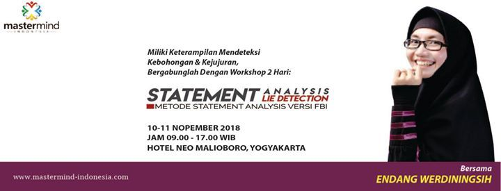 Pelatihan Statement Analysis Lie Detection