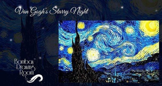 Van Goghs Starry Night - Painting Workshop Cafe Zoe