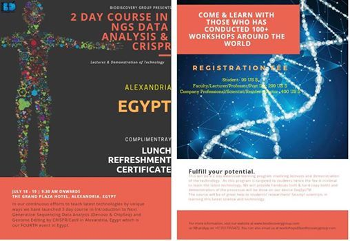 Alexandria  2 Day Course in NGS Data Analysis & Crispr