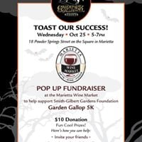 Toast Our Success Pop Up Fundraiser