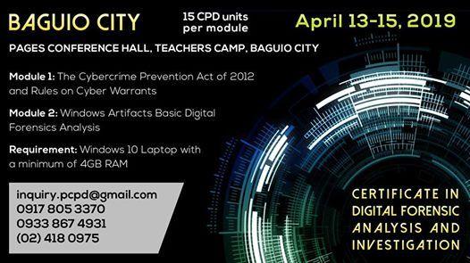 Baguio-Certificate in Digital Forensic Analysis & Investigation