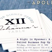 XII by Johannas Table Pop Up Dinner Series II