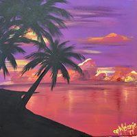 Florida Tour Sunset Palms Canvas Painting Event