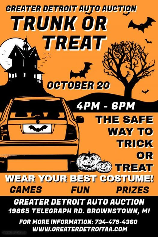 Greater Detroit Auto Auction >> Trunk Or Treat At Greater Detroit Auto Auction Michigan
