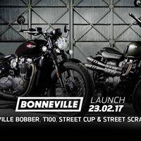 Bonneville Bobber Launch Night