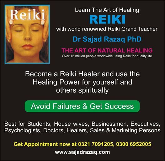 Reiki workshop with Dr Sajad Razaq at Pearl Continental Hotel, Lahore