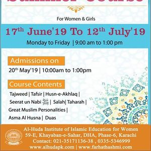 Husna events in Karachi, Today and Upcoming husna events in
