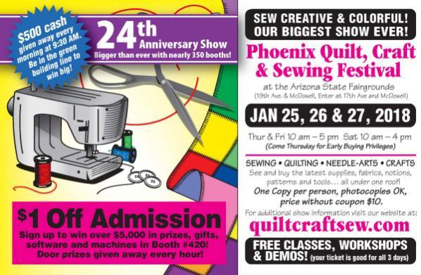 Phoenix Quilt Craft Sewing Festival At Arizona State Fairgrounds