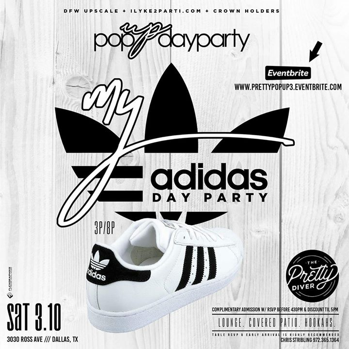 Black & White My Adidas Day PARTY  Pretty Diver