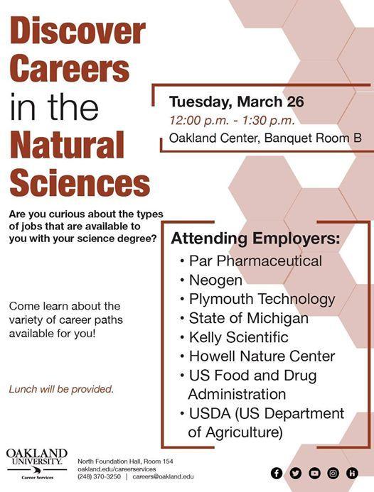 Oakland University Department of Biological Sciences