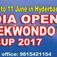 7th India Open Taekwondo Cup 2017 in Hyderabad