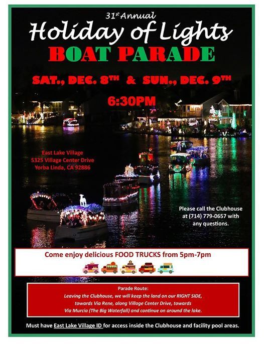 East Lake Village Yl 31st Annual Holiday Of Lights Boat