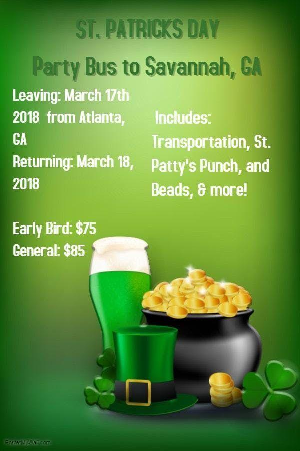 2019 ATL to Savannah St Patricks Day Party Bus