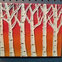 Winter Birch Tree 3D Canvas Workshop