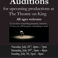 Auditions for 20172018 Productions at TTOK