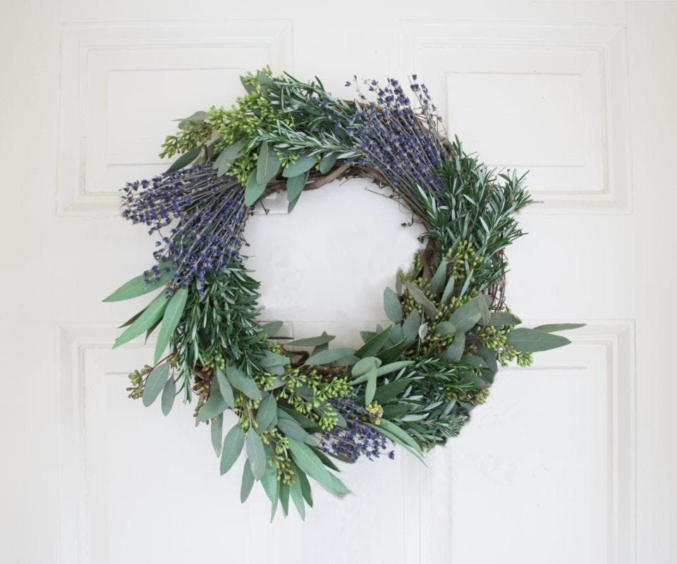 Spring Wreath Making Class at glassybaby
