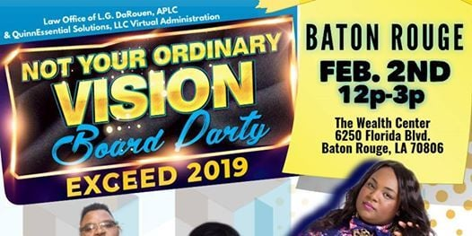 Not Your Ordinary Vision Board Party 2019 BATON ROUGE
