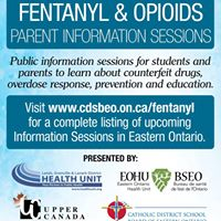 Fentanyl and Opioids Parents and Students Information Sessions